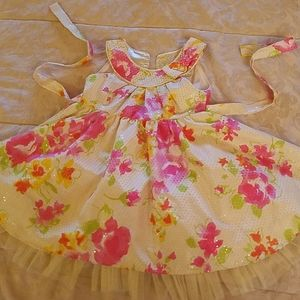 Jona Michelle light yellow Shimmer dress